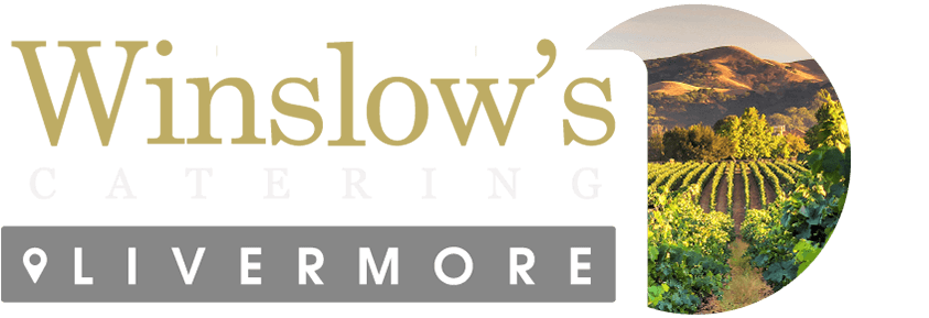 Clear footer logo of Winslows Livermore catering